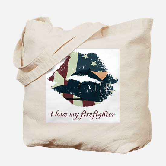 Firefighter Kiss Tote Bag