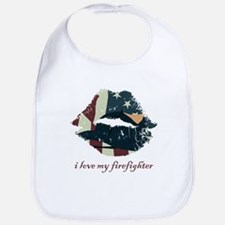 Firefighter Kiss Bib