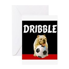 Soccer dog dribble Greeting Card