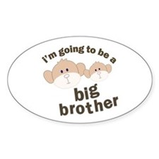 big brother to be monkey Oval Decal