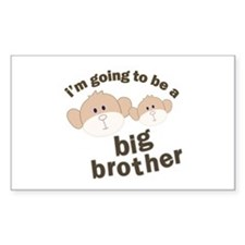 big brother to be monkey Rectangle Decal