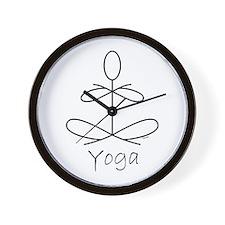 Yoga Glee in White Wall Clock
