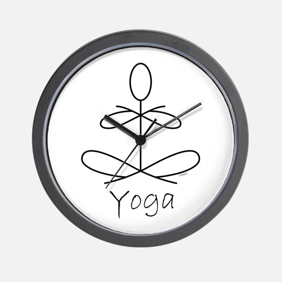 Yoga Glee in White Wall Clock
