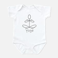 Yoga Glee in White Infant Bodysuit