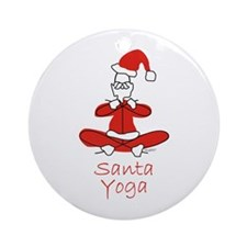 Yoga Santa Ornament (Round)