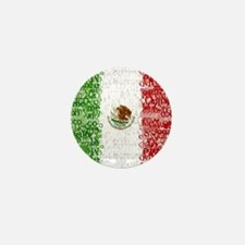 Textual Mexico Mini Button