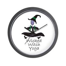 Yoga Witch Wall Clock