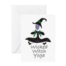 Yoga Witch Greeting Card
