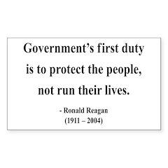 Ronald Reagan 2 Rectangle Decal