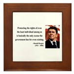 Ronald Reagan 3 Framed Tile