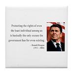 Ronald Reagan 3 Tile Coaster