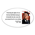 Ronald Reagan 3 Oval Sticker