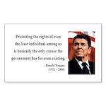Ronald Reagan 3 Rectangle Sticker