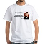 Ronald Reagan 3 White T-Shirt
