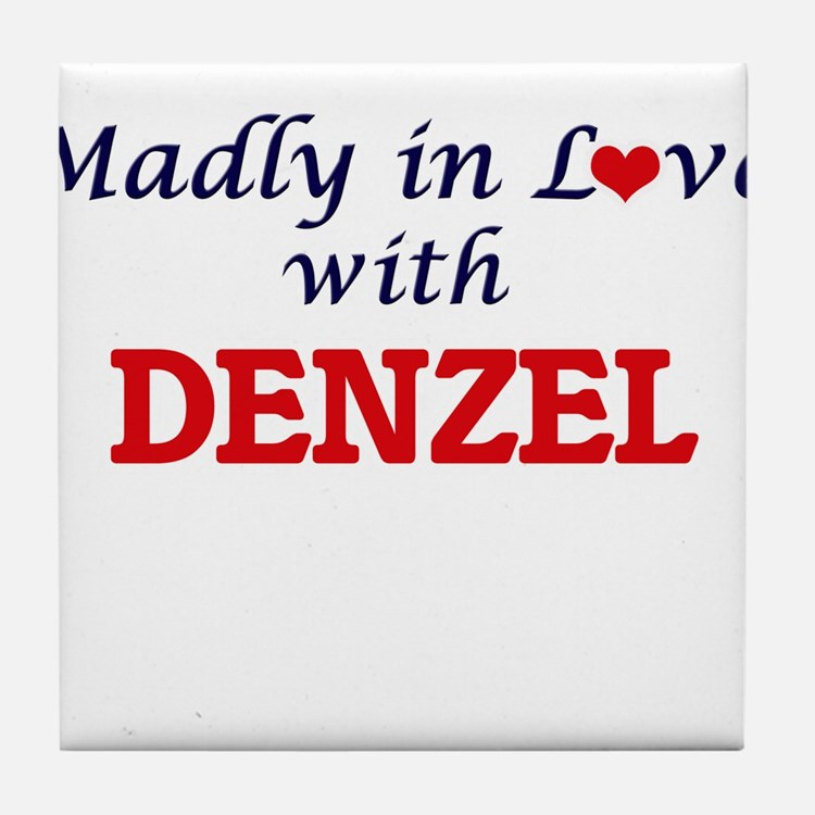 Madly in love with Denzel Tile Coaster