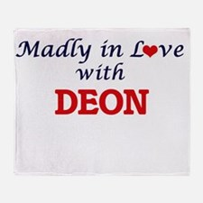 Madly in love with Deon Throw Blanket