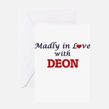 Madly in love with Deon Greeting Cards