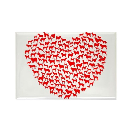 Love Dogs Rectangle Magnet (10 pack)