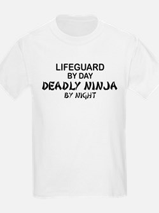 Lifeguard Deadly Ninja by Night T-Shirt