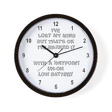 Geocacher Lost Mind Wall Clock