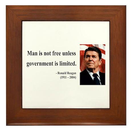 Ronald Reagan 4 Framed Tile