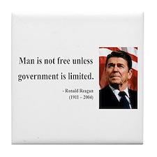 Ronald Reagan 4 Tile Coaster