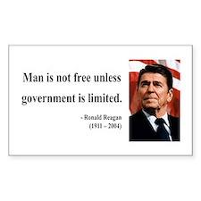 Ronald Reagan 4 Rectangle Decal