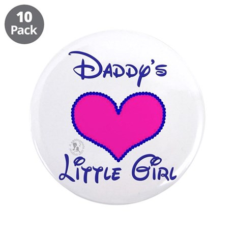 "Daddy's Little Girl 3.5"" Button (10 pack)"