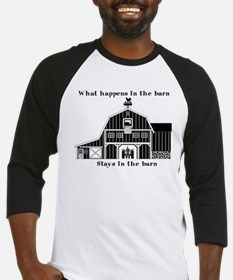 What happens in the Barn Baseball Jersey