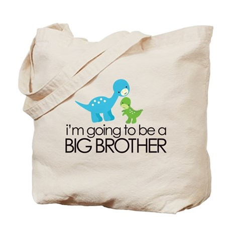 i'm going to be a big brother dinosaur Tote Bag