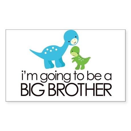 i'm going to be a big brother dinosaur Sticker (Re
