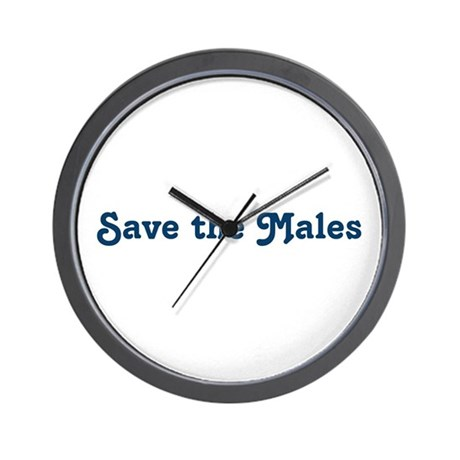 Save the Males Wall Clock