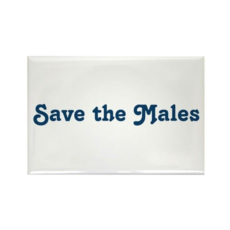 Save the Males Rectangle Magnet
