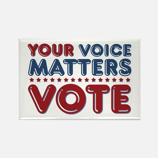 Your Voice Matters Rectangle Magnet