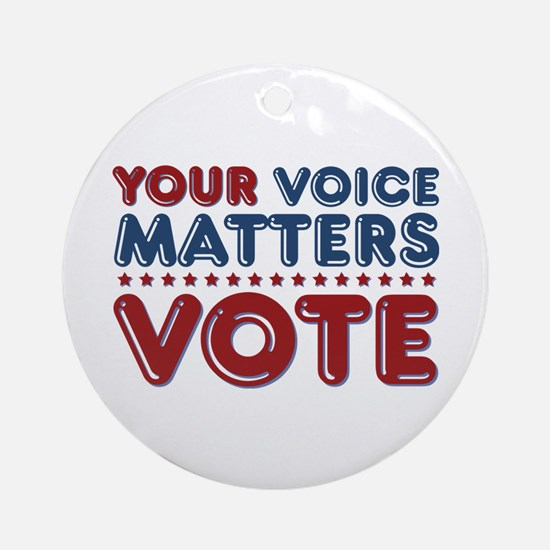 Your Voice Matters Ornament (Round)