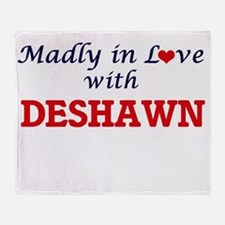 Madly in love with Deshawn Throw Blanket