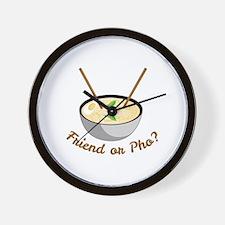 Friend Or Pho Wall Clock