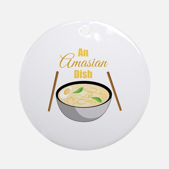 Amasian Dish Round Ornament
