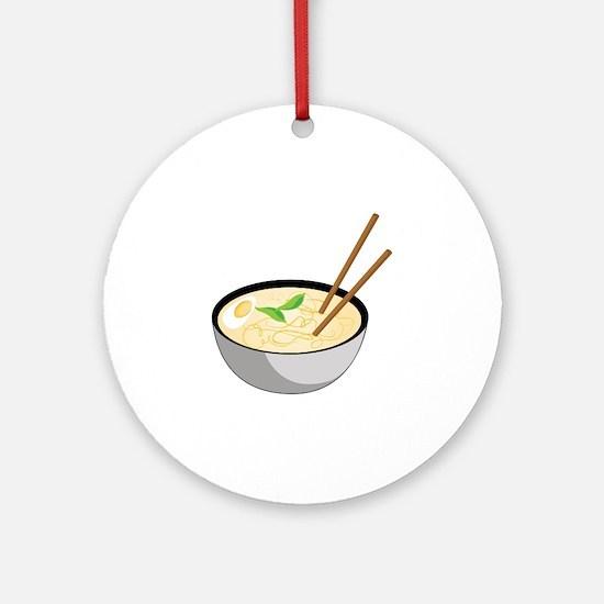 Pho Soup Round Ornament