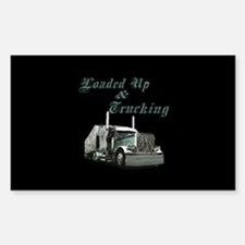 Loaded Up & Trucking Rectangle Decal