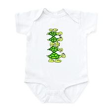 STACK OF TURTLES Infant Bodysuit