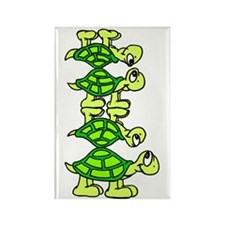 STACK OF TURTLES Rectangle Magnet
