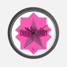 Daddy's Girl (Star) Wall Clock