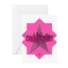 Daddy's Girl (Star) Greeting Cards (Pk of 10)