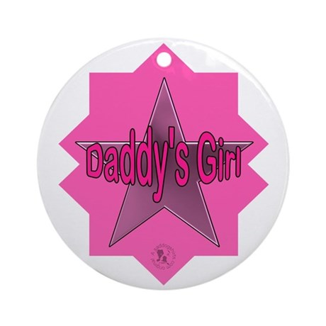 Daddy's Girl (Star) Ornament (Round)