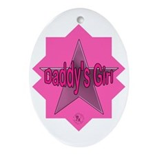 Daddy's Girl (Star) Oval Ornament