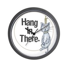 Hang In There! Wall Clock