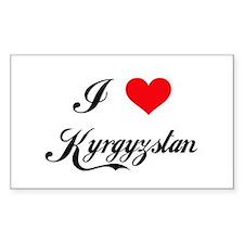 I Love Kyrgyzstan Rectangle Decal