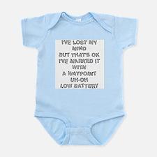 Geocacher Lost Mind Infant Bodysuit