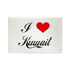 I Love Kuwait Rectangle Magnet